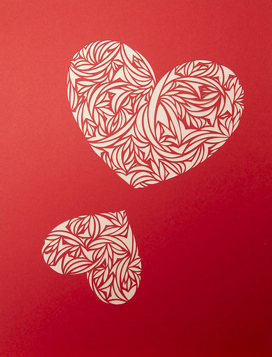 Heart paper cut work-6