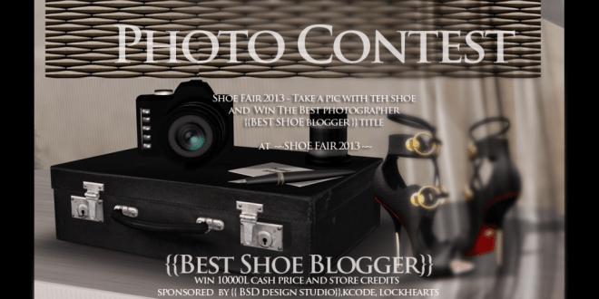 shoe fair photo contest flyer