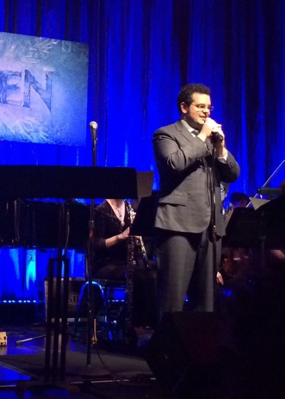 emcee Josh Gad at the Frozen Live event