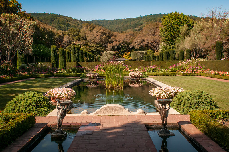 Fight love live the filoli mansion and gardens in for Filoli garden pool
