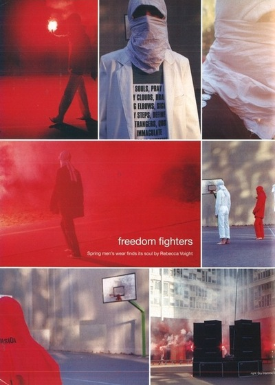 raf simons freedom fighters 2002