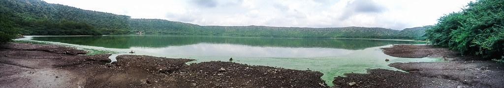 Algae at the Lonar lake