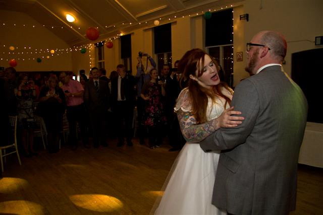 singing along to the first dance
