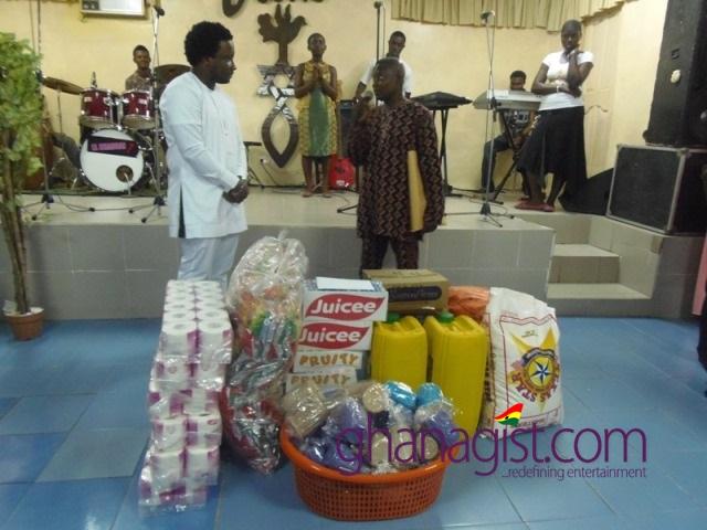 Sonnie Badu celebrates birthday at four Orphanages Home