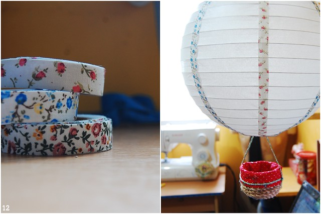 tutorialDIY paper lamp hot air balloon mobile Bored  Crafty