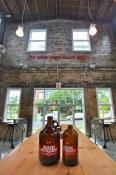 High ceilings of the tasting room | Main Street Brewing