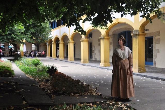 Hospital in Arles Garden. A Subject of Artist Vincent van Gogh. Arles, France, Sept. 2013