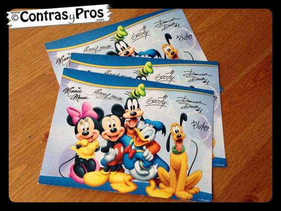 carta a un personaje Disney