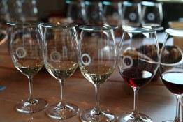 Tasting wines at Okanagan Crush Pad