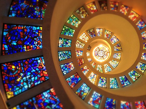 Spiral Chapel Thanksgiving Square  Dallas Texas Dowtown Architecture IMG_3688x by Dallas Photoworks