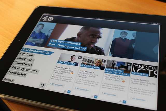 4oD on an iPad