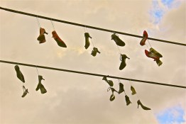 Fancy Shoes from telephone wires