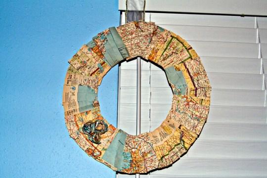map wreath