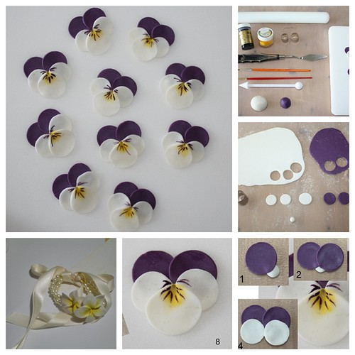 DIY Polymer-Clay-Pansy