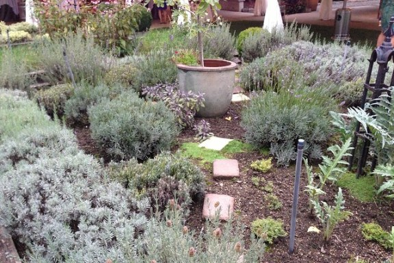 A section of the Herb Farm's edible garden