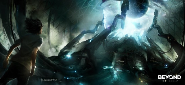 Concept art created by François Baranger for Quantic Dream