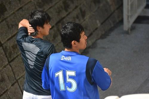 三嶋選手と井納選手