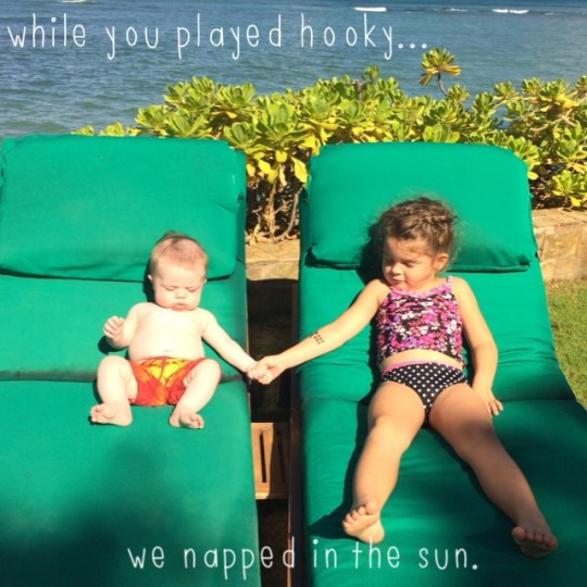 while you played hooky...we napped in the sun.