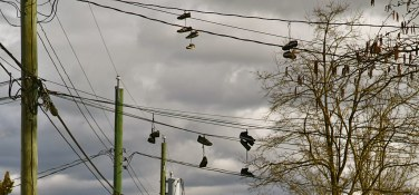 Sneaker's Dangling from Telephone Wires | Fraserhood