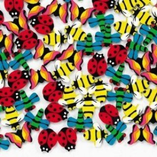 mini insect erasers