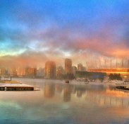 Early Morning Mist in False Creek | Olympic Village