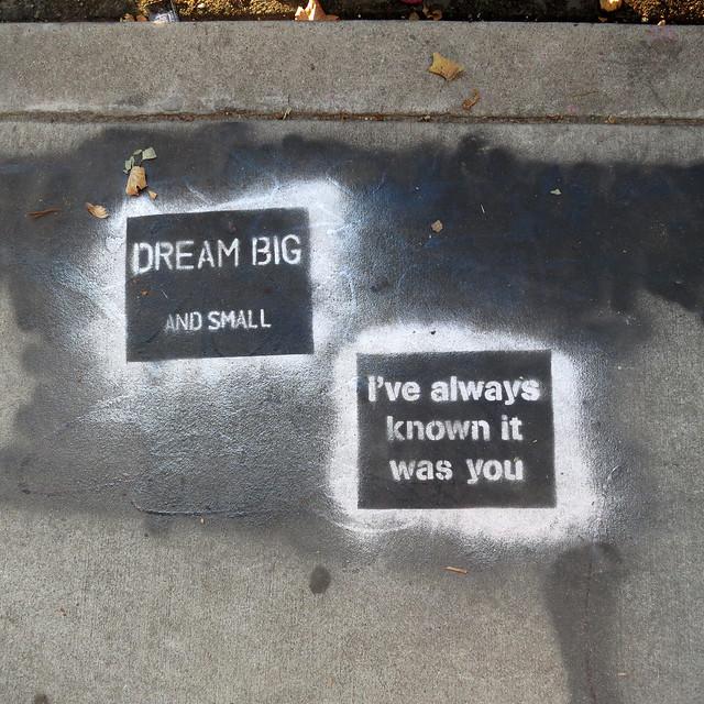 Positive Affirmation Street Art in Venice, Los Angeles, California