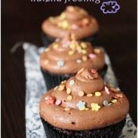 Cupcakes de chocolate con frosting de Nutella