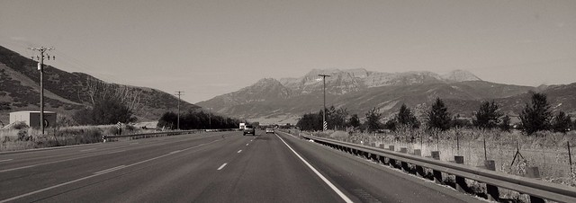 Driving down US189, Heber City, Utah, 2013