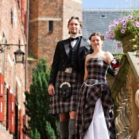 Noor & Alex's Scottish-inspired handfasting in The Netherlands