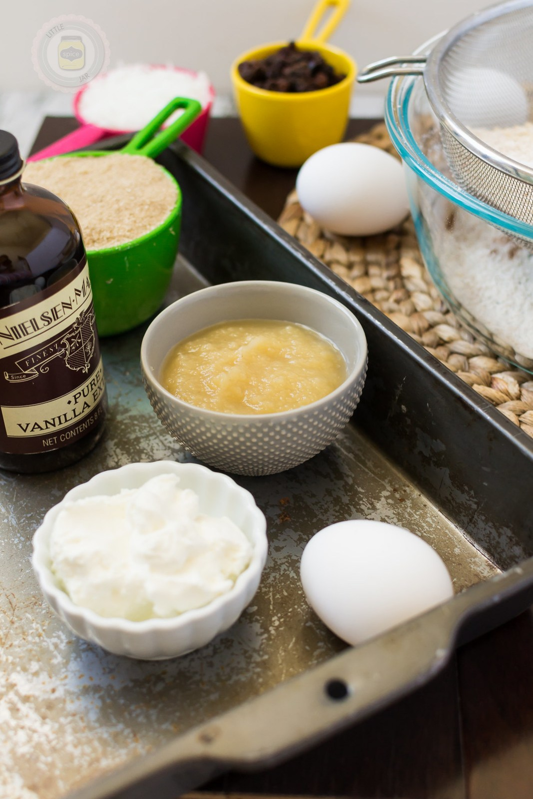 Super Moist and Healthy Carrot Cake Muffins Ingredients Shot 2