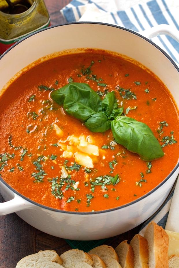 Secret Ingredient Tomato Basil Soup Recipe