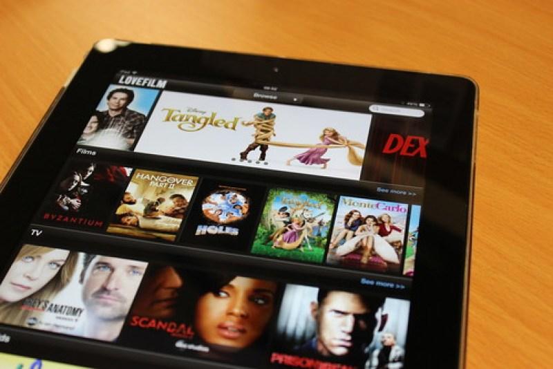 Amazon LoveFilm Instant on an iPad