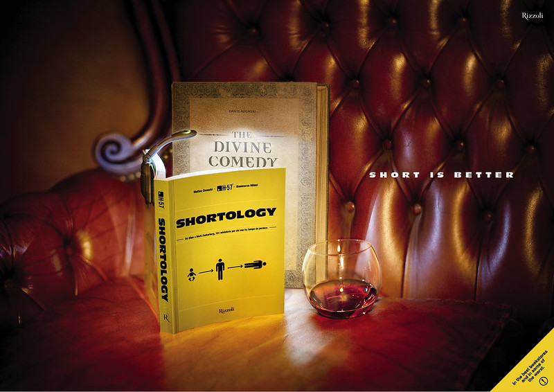 shortology campagna stampa natale divine comedy