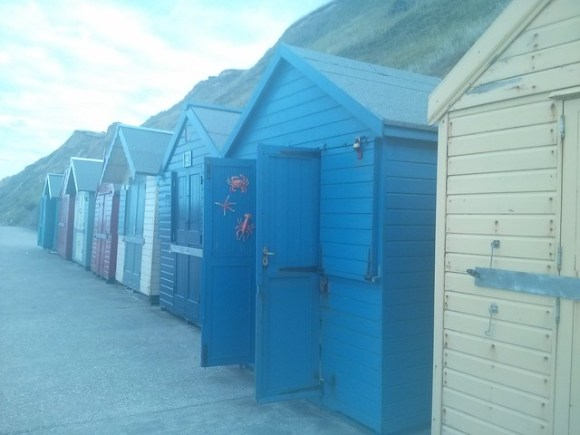 Norfolk shed by the sea