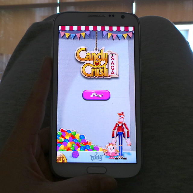 candy crush saga on Samsung Galaxy Note 2