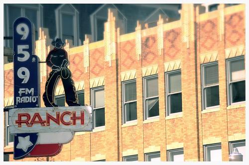 Ranch Radio 95.9 Sundance Square Fort Worth Texas Plaza DSC_6437x by Dallas Texas Photographer David Kozlowski