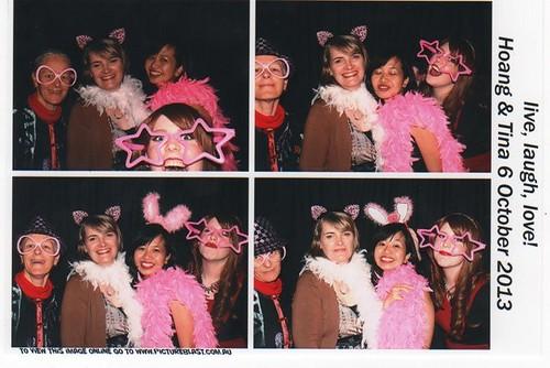 Fun at the Photobooth at TV's wedding