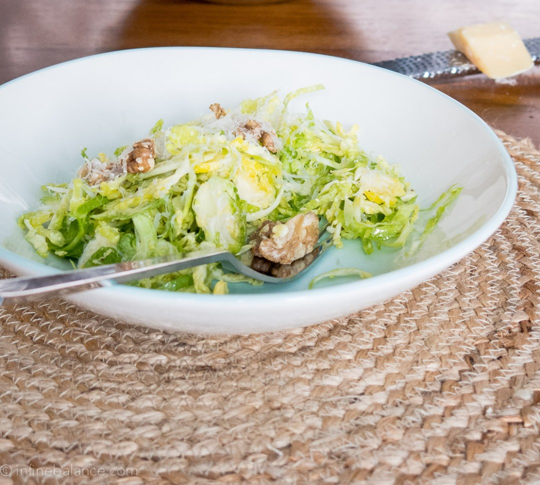 Raw Brussels Sprout Salad | infinebalance.com