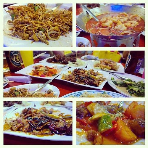 Last night's dinner feast with friends. #latergram