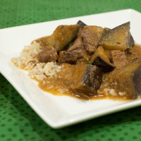 Eggplant Curry with Beef