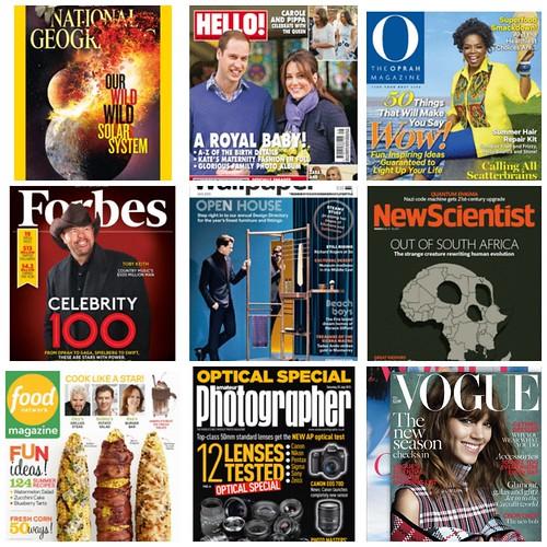 Zinio magazines