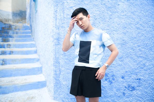 Bryanboy at Chefchaouen Medina, Morocco