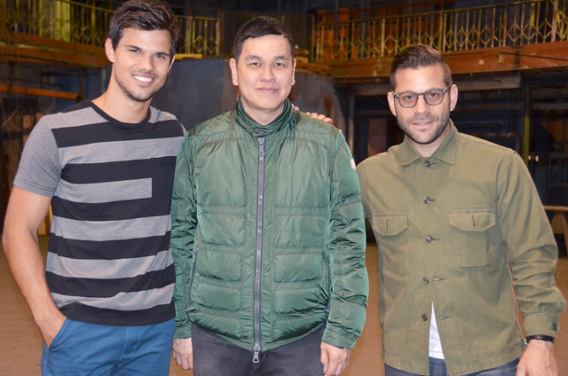 Bench's newest endorser Taylor Lautner and director Anthony Mandler with Bench CEO Ben Chan