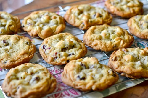 White Chocolate Cranberry Cookies-5