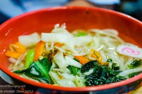Kansai vegetable udon