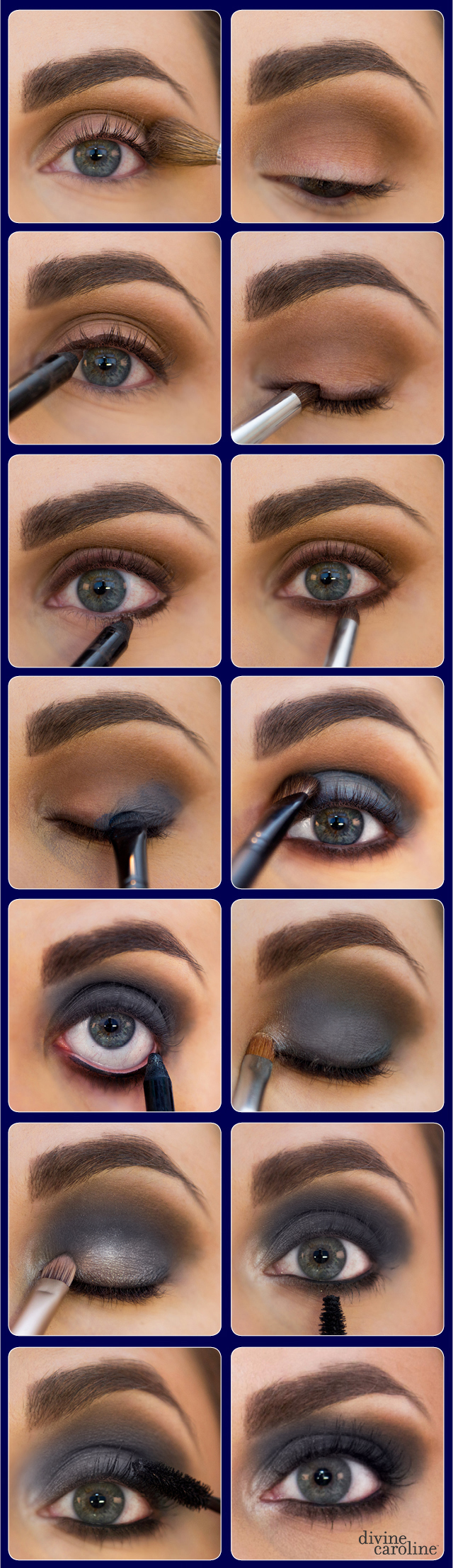 Navy Smoky Eye Graphic