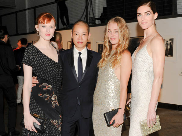 Karen Elson, Jason Wu, Elizabeth Gilpin and Hilary Rhoda