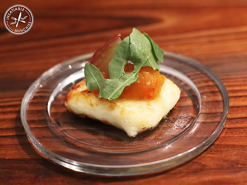 Haloumi and water apple amuse bouche