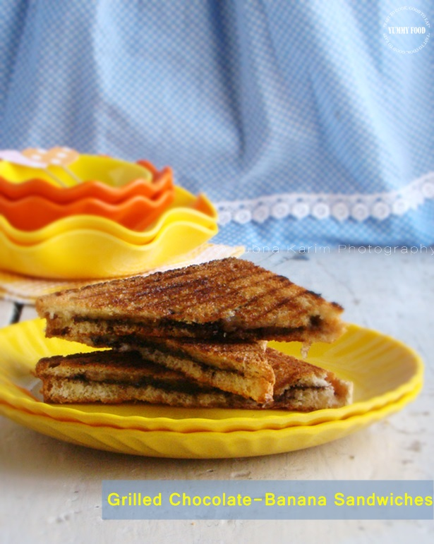 Grilled Chocolate Banana Sandwiches are more…. - Yummy Food