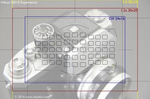 Nikon D810 image area viewfinder virtual crop zoom telephoto FX DX 1.2x 5:4
